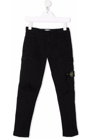 Stone Island Boys Cargo Pants - Compass badge cargo trousers