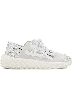 Giuseppe Zanotti Women Sneakers - Urchin lace-up gem stud-embellished sneakers