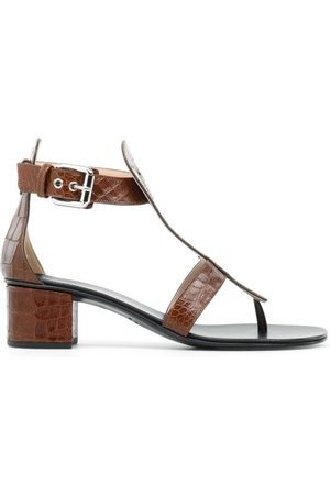 Giuseppe Zanotti Women Sandals - Madie crocodile-embellished open-toe sandals