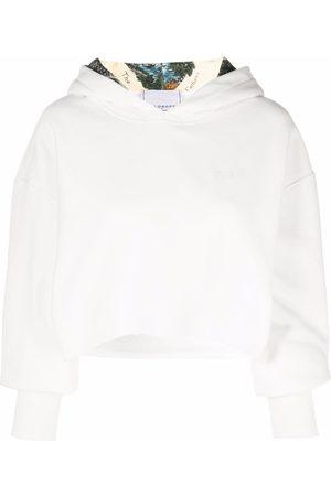 Serafini Cropped cotton hoodie