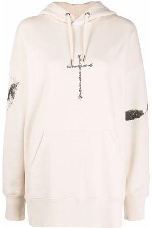 Givenchy Women Hoodies - Cross-print oversized hoodie