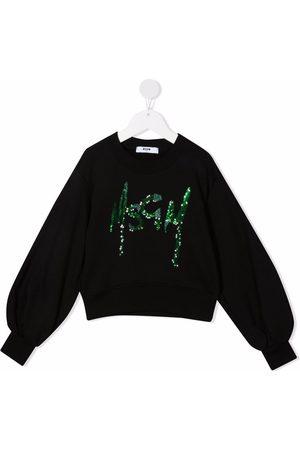 Msgm Sequin-logo sweatshirt