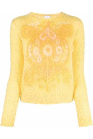 Patou Paisley-print knitted jumper