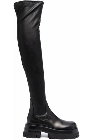 VERSACE Women Knee High Boots - Leather over-the-knee boots