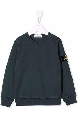 Stone Island Boys Sweatshirts - Logo crew-neck sweatshirt