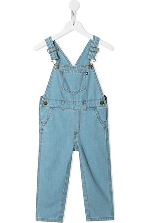 Molo Baby Rompers - Light-wash denim dungarees