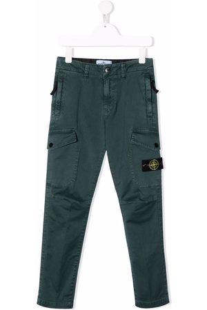 Stone Island Boys Cargo Pants - Straight-leg cargo pants