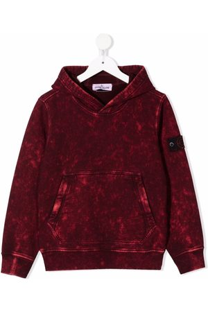 Stone Island Distressed-effect cotton hoodie