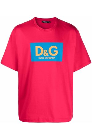 Dolce & Gabbana Men Short Sleeve - Logo-print boxy fit T-shirt