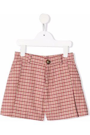 Chloé Girls Shorts - Check-pattern mini shorts
