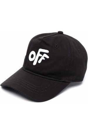 Off-White Kids Baby Hats - Embroidered cotton cap