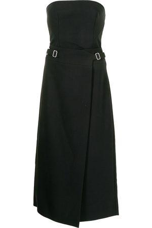 DION LEE Women Midi Dresses - Interlock strapless midi dress