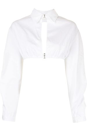 DION LEE Cut-out cropped shirt