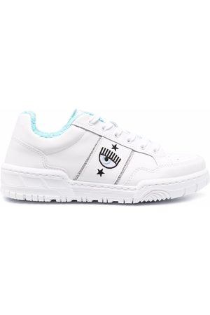 Chiara Ferragni Women Sneakers - Logo-embroidered ridged sneakers