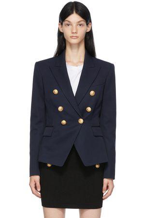 Balmain Navy Wool Six-Button Permanent Blazer