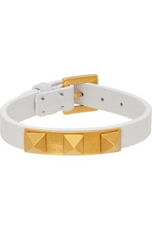 Valentino Garavani White Rockstud 3 Stud Bracelet