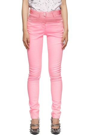 Givenchy Pink Stretch Coated Jeans