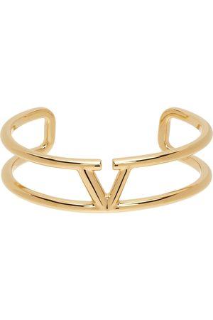 Women Bracelets - Valentino Garavani Gold VLogo Cuff Bracelet
