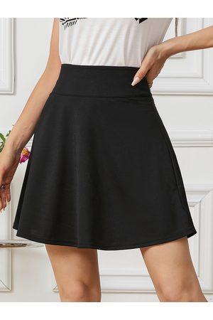 YOINS High Waist Zip Back Fastening Mini Skirt