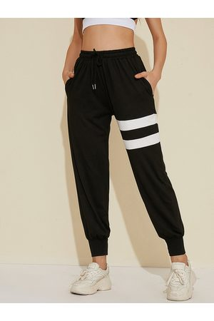 YOINS Sports Striped Side Pocket Drawstring Waist Pants