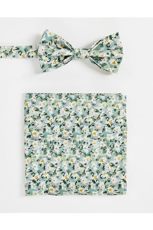 Gianni Feraud Liberty print floral bow tie and pocket square set