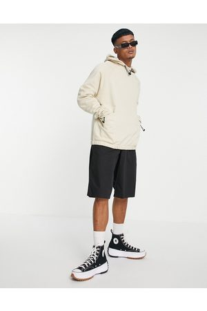 ASOS Organic co-ord oversized hoodie with toggle details in -Neutral