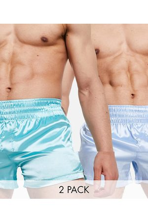 ASOS Men Briefs - 2 pack satin boxer with thicker waistband-Multi