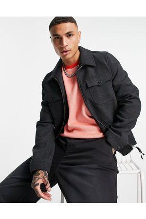ASOS Men Jackets - Wool mix harrington shacket in