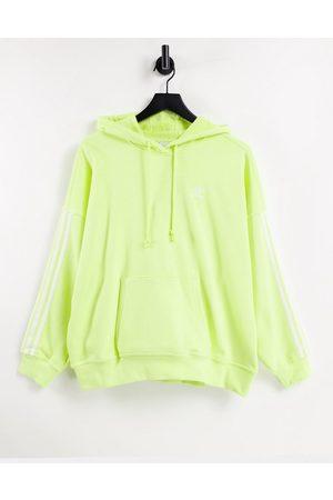 adidas Women Sweatshirts - Adicolor three stripe hoodie in