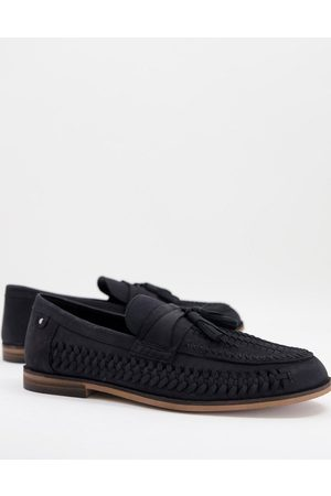 River Island Woven tassle loafer in