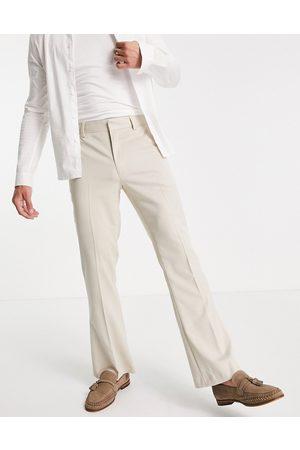ASOS DESIGN Men Wide Leg Pants - Flare suit trousers in -Neutral