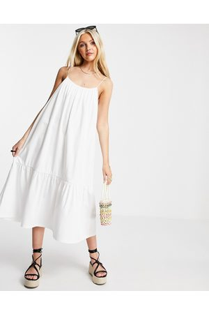 ASOS Women Casual Dresses - Strappy midi sundress with pep hem in