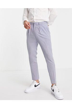ASOS Tapered suit trousers with mini herringbone nepp in