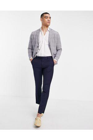 SELECTED Slim fit linen blend suit jacket in