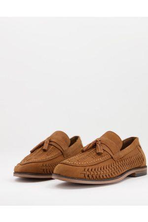 River Island Men Loafers - Woven tassel loafers in