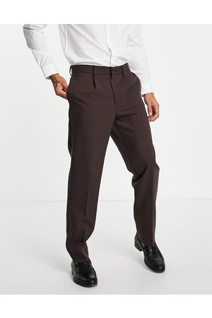 River Island Relaxed suit trousers in
