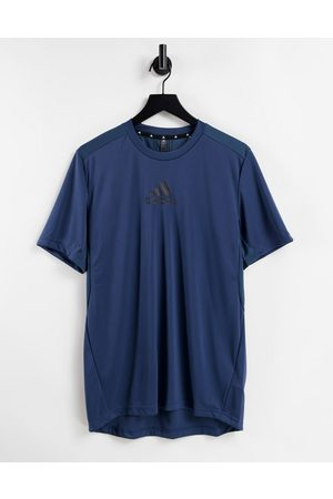adidas performance Men Sports T-shirts - Adidas Training t-shirt with chest logo in navy