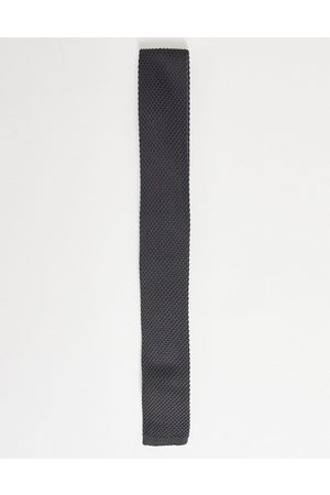 ASOS Knitted tie in charcoal