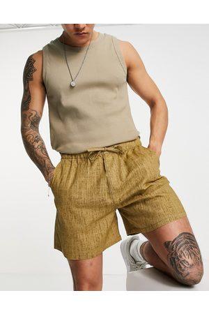 ASOS Men Shorts - Wide shorts in linen look