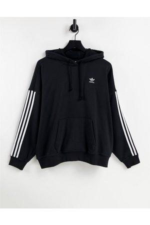 adidas Adicolor three stripe hoodie in