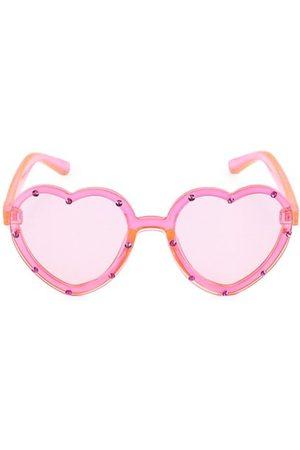 Bari Lynn Girl's Neon Heart Sunglasses