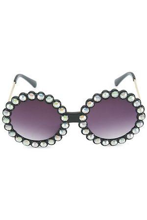 Bari Lynn Girl's Gradient Embellished Round Sunglasses
