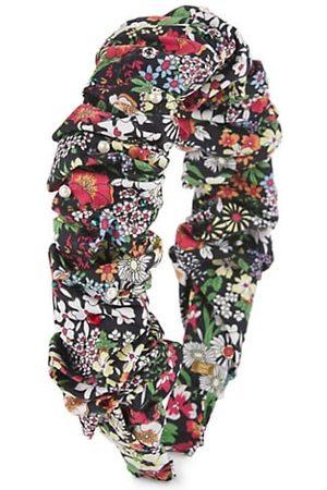 Bari Lynn Girls Headbands - Girl's Floral-Print Embellished Headband