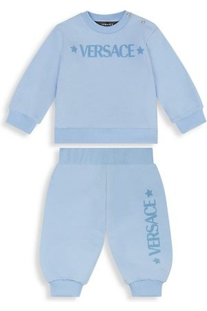 Versace Baby Joggers - Baby Boy's 2-Piece Logo-Print Sweatshirt & Joggers Set