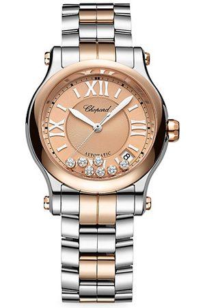 Chopard Watches - Happy Sport 18K Rose , Stainless Steel & Diamond Bracelet Watch