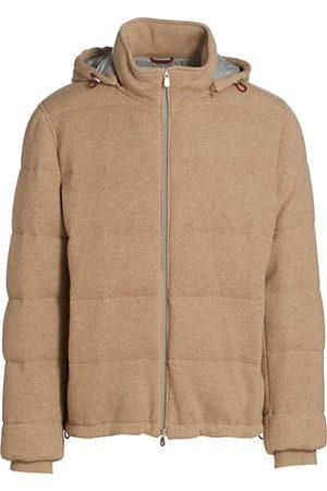 Brunello Cucinelli Men Parkas - Cashmere Hooded Puffer Jacket
