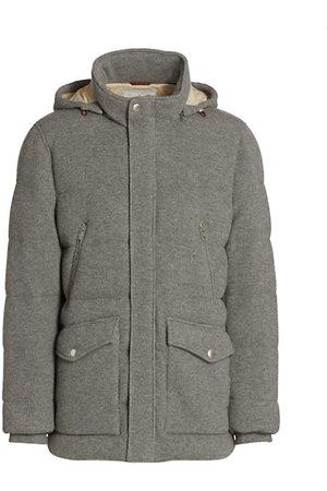 Brunello Cucinelli Men Parkas - Cashmere Mid Length Puffer Jacket