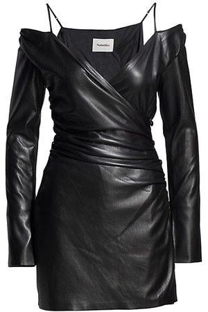 Nanushka Women Nightdresses & Shirts - Moha Vegan Leather Wrap Dress