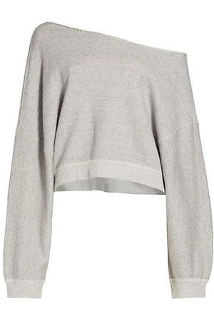 R13 Women Jumpers - Patti Off-the-Shoulder Sweatshirt