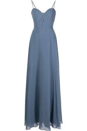 Marchesa Notte Women Evening Dresses - Long spaghetti-strap dress